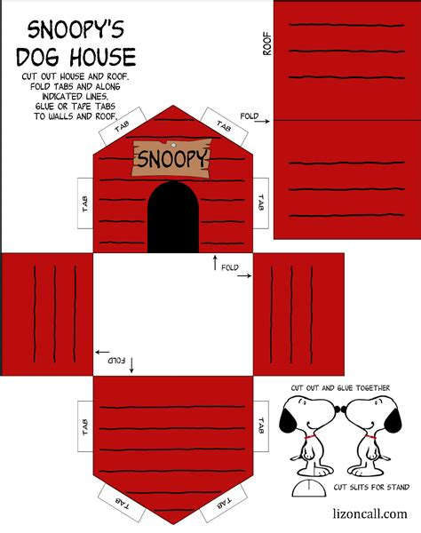 snoopy house 2 of 2 http lizoncall 2015 11 06 printable snoopy house kid craft