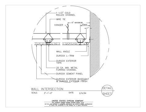 usg design studio wall intersection details