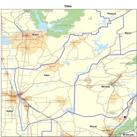zip code map yuba county yuba county ca california maps map of california