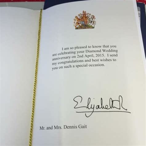 Wedding Anniversary Card From Buckingham Palace by Cwmaman Celebrate Wedding With A And