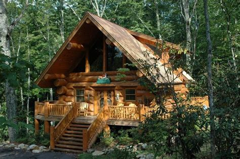Log Cabin Homes For Rent In Tennessee by Log Cabin Wrap Around Porch In The Woods Log Cabins