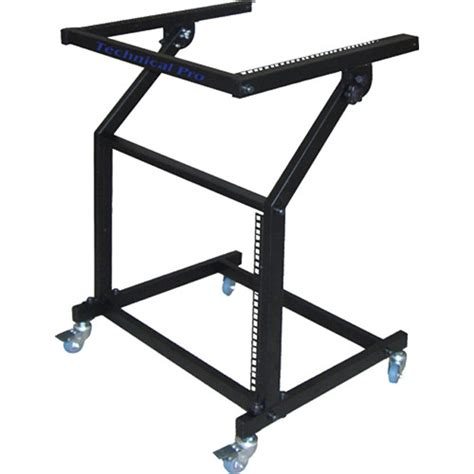 Rolling Equipment Rack by Technical Pro Rma 13u Rolling 13ru Equipment Rack Rma 13u B H