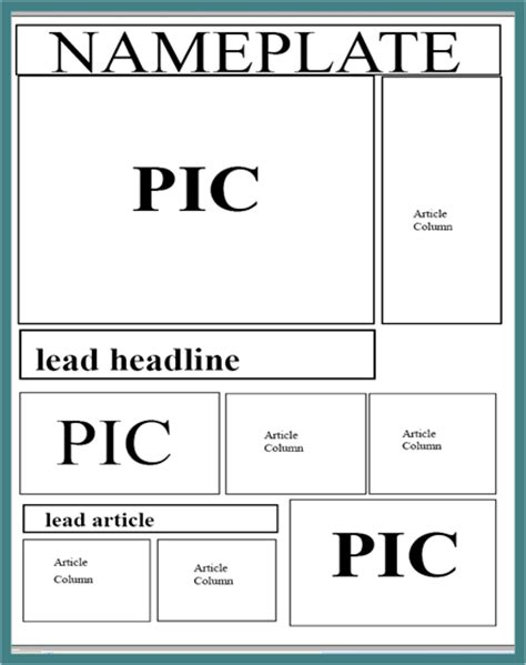 newspaper article layout template a2 media local newspaper newspaper layout ideas