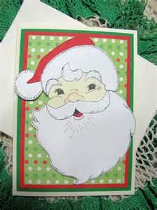 s kreation handmade greeting card santa paper piecings