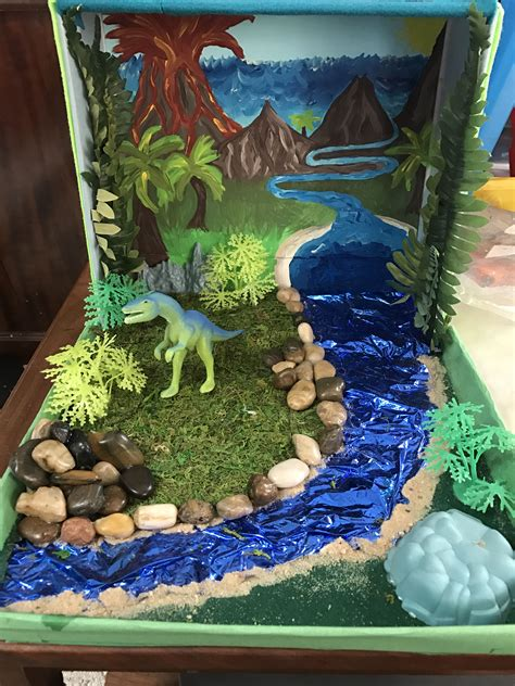 Dinosaurs Diorama Background Images | dinosaur diorama an old shoe box a painting for the
