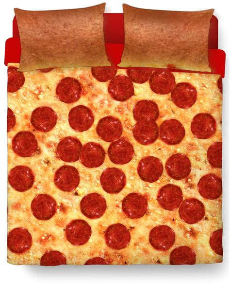 pizza bed duvet cover and pillow combo