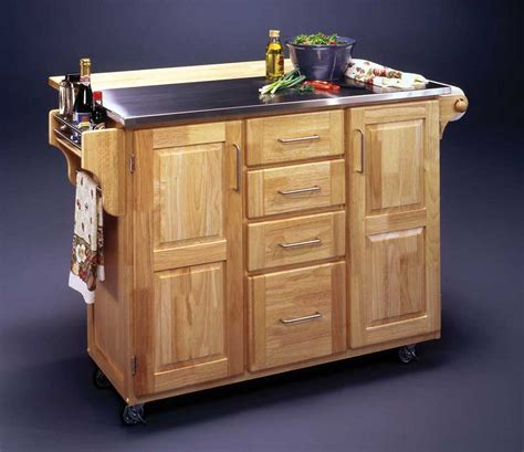 discount kitchen islands with breakfast bar bamboo kitchen cart w stainless steel top in natural