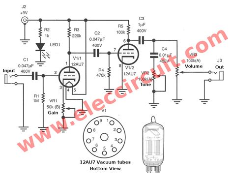 simple guitar pre schematic get free image about