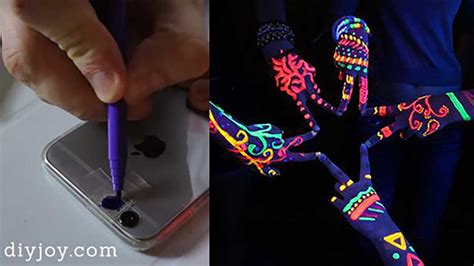 how to hack lights with a phone a diy black light for your phone with the magic of