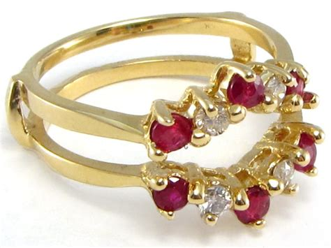 14k yellow gold ruby ring wrap guard