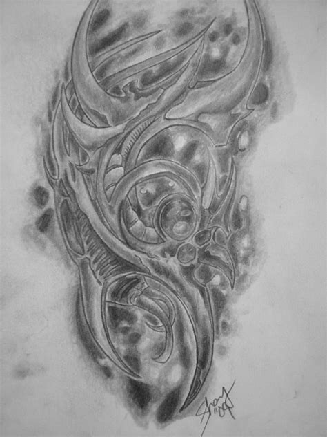 biomechanical tattoo line drawing biomechanical tattoo by the shay on deviantart