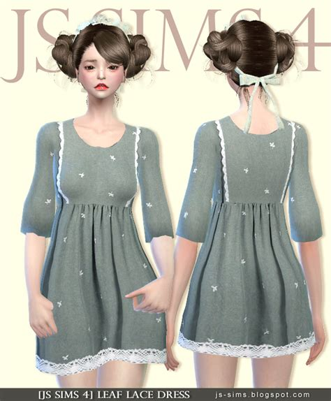 lace shirt the sims 4 js sims 4 leaf lace dress js sims