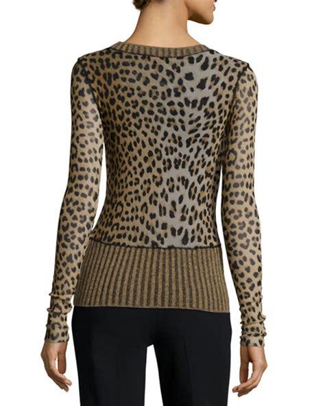 Leopard Print Pullover fuzzi sleeve leopard print sweater
