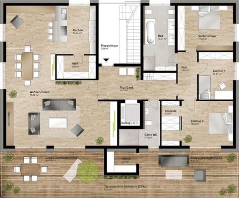 Apartment Mit 1 Schlafzimmer Grundriss by Luxus Penthouse Grundriss