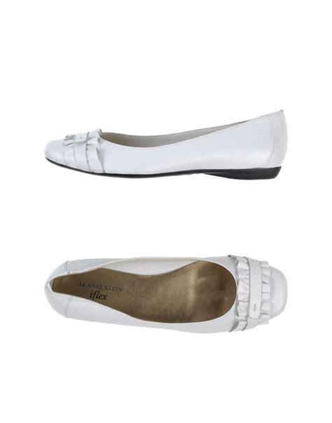 white ballerina shoes for lyst klein ballet flats in white