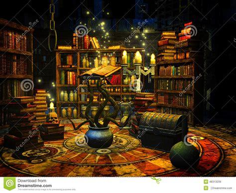 18 Doll Desk Wizard S Study Stock Illustration Image 48313239