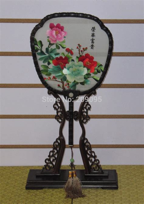 collectible home decor chinese hand made double sided silk embroidery art peony