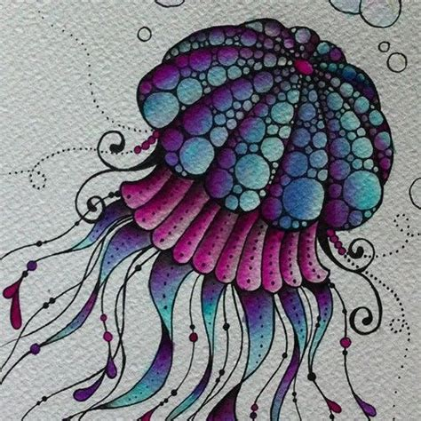 watercolor zentangle tattoo 17 best ideas about jellyfish drawing on