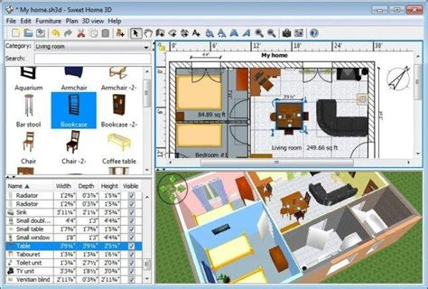 Home Design App For Windows by Sweet Home 3d Download Sourceforge Net