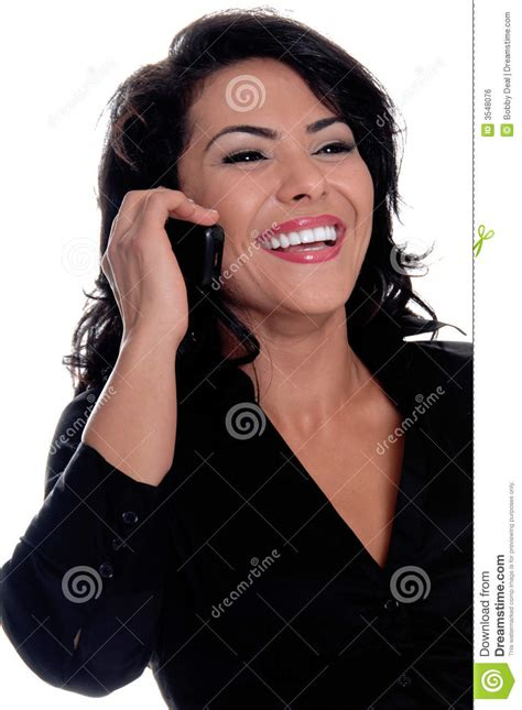 Mexico Phone Lookup Business Talking On Cell Phone Stock Photo