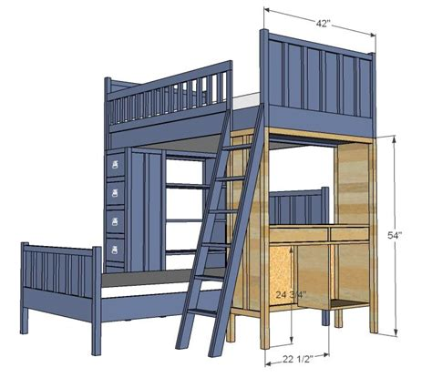 Ana White Build A Cabin Bunk System Desk Support Easy Bunk Bed Plans