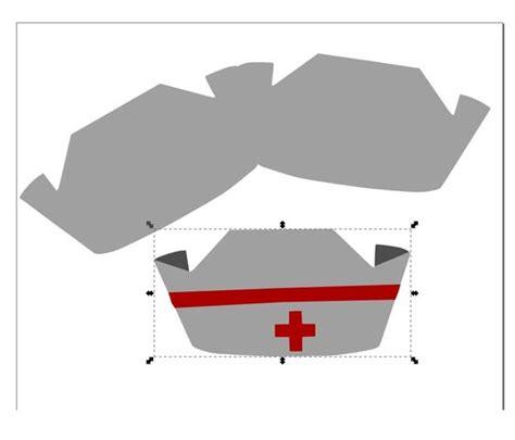printable paper nurse hat paper cap template paper loving critter nurse cap shape