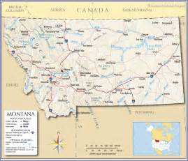 Montana Maps by Map Of Montana Montana Maps Mapsof Net