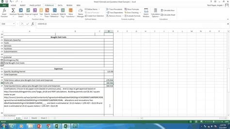 creating estimate and quotation sheets in excel