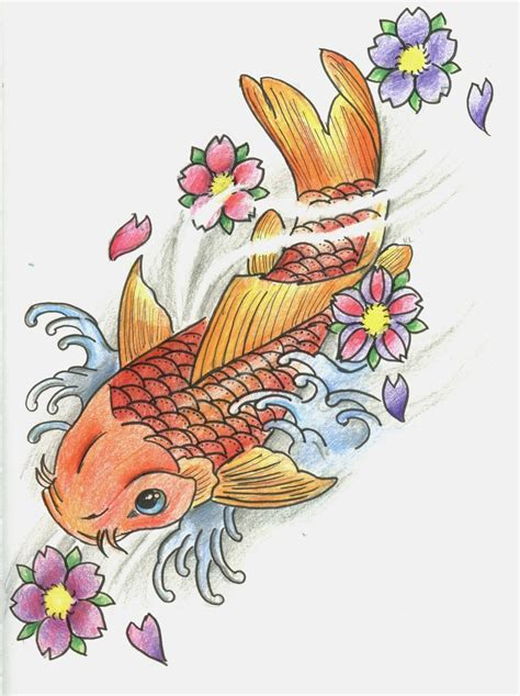 coy fish tattoo design april 2013