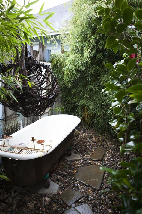 outdoor bathtub best 25 outdoor bathtub ideas on pinterest outdoor