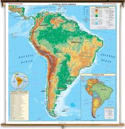 and south america physical map physical south america map
