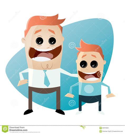 father and son cartoon cartoon father and son stock vector image 60819050