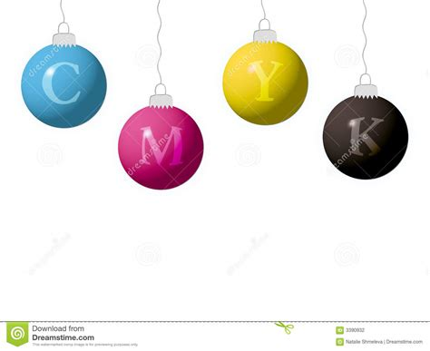 new year cmyk cmyk new year balls stock photography image 3390932