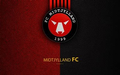 wallpapers fc midtjylland  logo leather