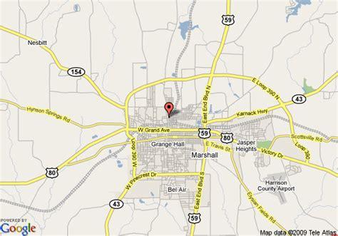 where is marshall texas on the map map of inn express hotel suites marshall marshall