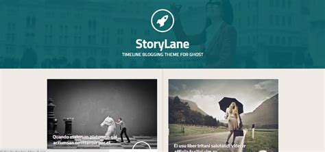 blog layout ghost just 30 beautiful ghost themes
