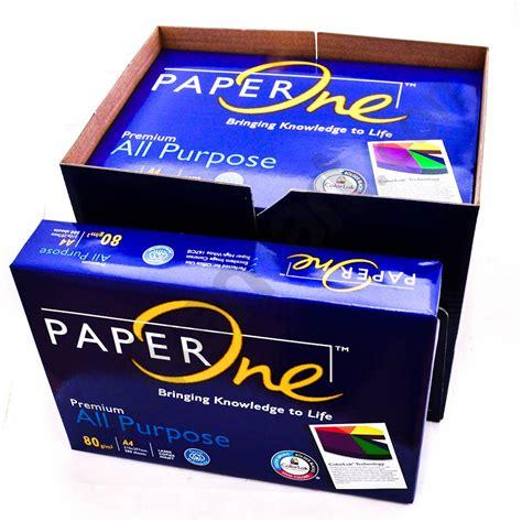 Diskon Kertas Hvs A4 Paper One 80gr 80 Gr Gsm Kertas Copy Print jual paperone copy paper a4 80g 1 box 5 reams berkualitas di kertas monotaro id