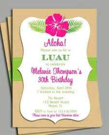 luau invitation printable personalized for your