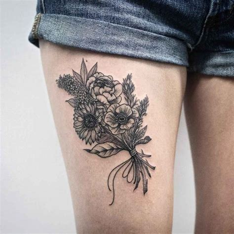 bunch of roses tattoo bunch of flowers best ideas gallery