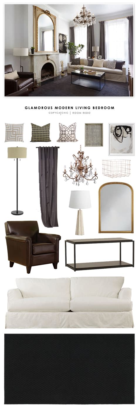 modern chic living room copy cat chic room redo glamorous modern living room