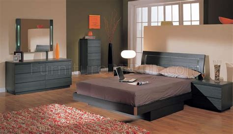 queen size bedroom set with storage ash finish modern 5pc bedroom set w queen size storage bed