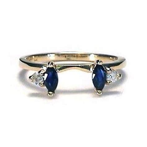 Marquise Sapphire & Diamond Ring wrap guard yellow gold My