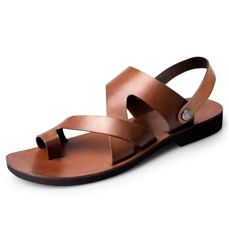 best leather sandals 2015 top brand flip flops summer genuine leather shoes for