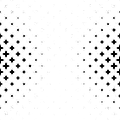 abstract shape pattern vector black and white star pattern abstract vector background