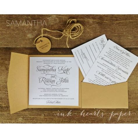diy wedding invitation perth wedding pocket invitations australia mini bridal