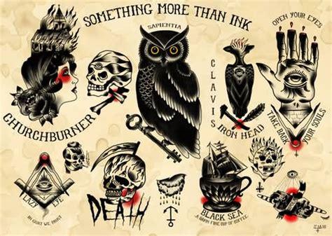 traditional tattoo black and grey flash 24 horror tattoos flash ideas