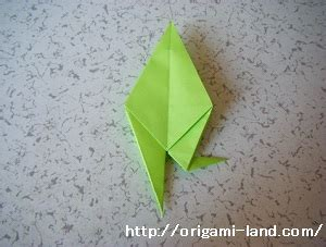 Origami Land - origami how to fold a frog origami land
