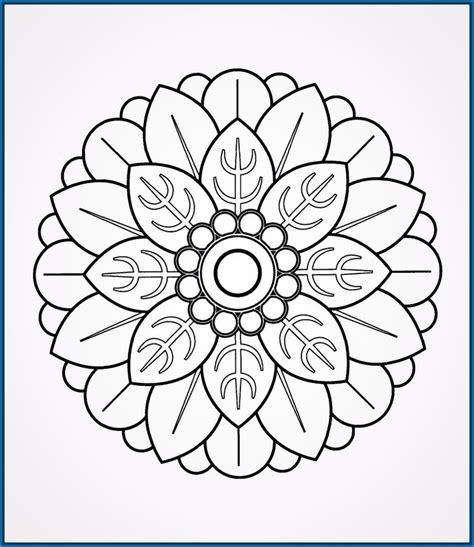 imagenes de mandalas navideñas dibujos de mandalas para ni 241 os para pintar dibujos de