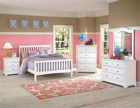 White Youth Bedroom Furniture by Bayfront White Youth Slat Bedroom Set From New Classics