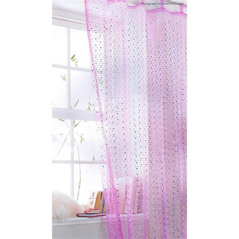 pink sequin curtains tab top voile curtain panel popsicle pink sequin 138 x